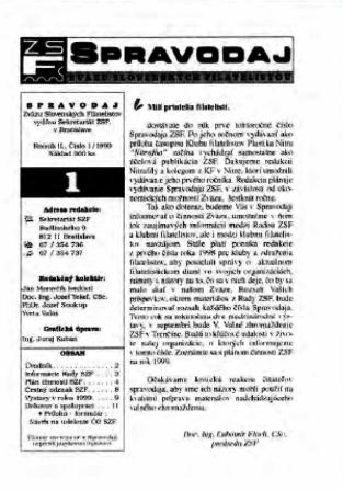 Spravodajca č.1/1999