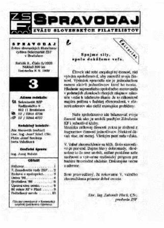 Spravodajca č.3/1999