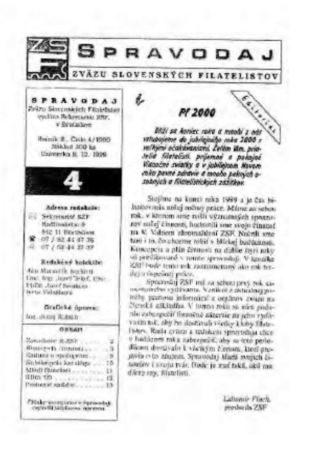 Spravodajca č.4/1999
